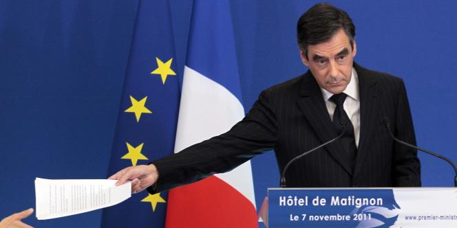 François Fillon, le 7 novembre 2011, à Matignon.