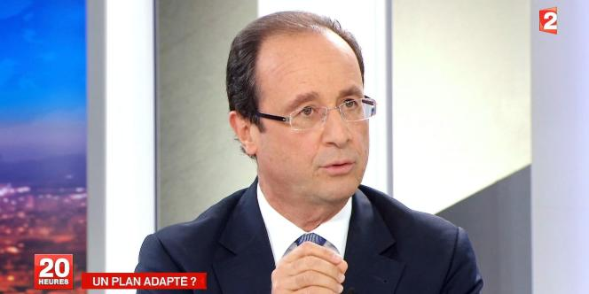 François Hollande du France 2, lundi 7 novembre