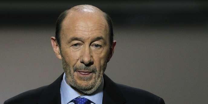 Alfredo Perez Rubalcaba, le chef de file des socialistes, le 7 novembre 2011 à Madrid.