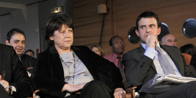 Martine Aubry et Manuel Valls, en février 2011 à Paris.