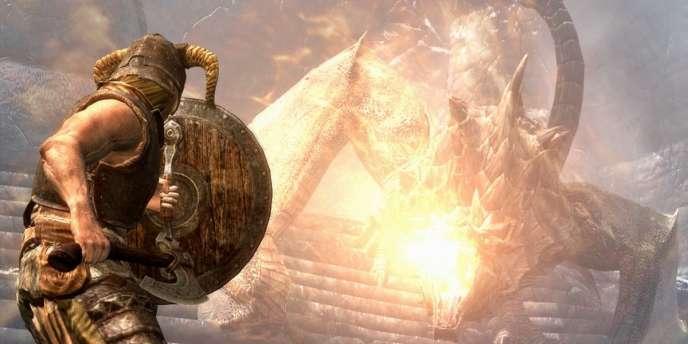 Une séquence du jeu Skyrim.
