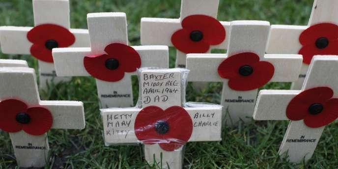Le coquelicot comme symbole britannique des soldats morts au combat depuis la première guerre mondiale.