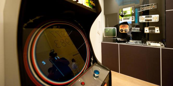 Une borne d'arcade, exposée à Game Story.