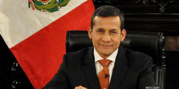 Le président péruvien Ollanta Humala lors d'un discours à Lima, le 6 novembre 2011.