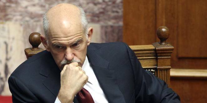 Georges Papandréou, alors premier ministre de la Grèce, à Athènes le 30 juin 2011.