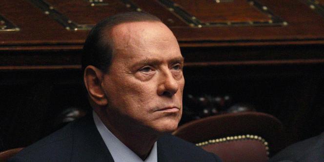 Silvio Berlusconi, le 8 novembre 2011 au Parlement à Rome.