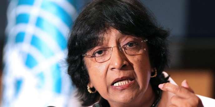 La haute-commissaire de l'ONU aux droits humains, Navi Pillay, en avril 2010.