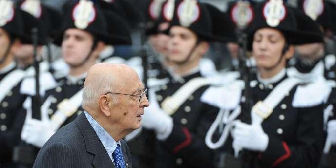 Le président de la République italienne, Giorgio Napolitano, lors d'une cérémonie à Rome, le 4 novembre 2011.