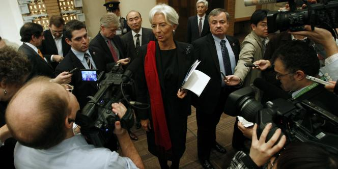 La présidente du FMI, Christine Lagarde, le 12 novembre à Tokyo.