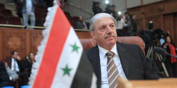 Yussef Al-Ahmad, l'ambassadeur syrien à la Ligue arabe, lors de la réunion qui a acté l'exclusion de son pays, samedi 12 novembre.