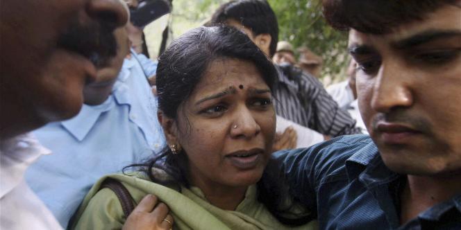 La députée indienne Kanimozhi après son audition devant le CBI (Central Bureau of Investigation) le 6 mai.