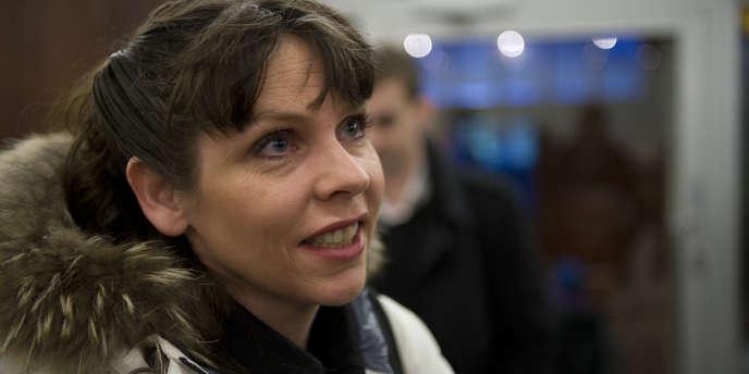 La députée islandaise Birgitta Jonsdottir, en février.