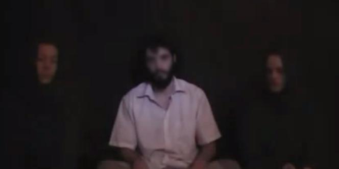 Image du 12 septembre 2011 des trois otages français.
