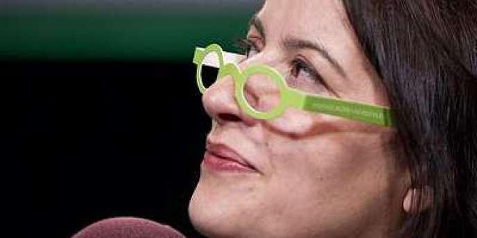Cécile Duflot, secrétaire nationale d'Europe Ecologie-Les Verts, le 12 novembre à Paris.