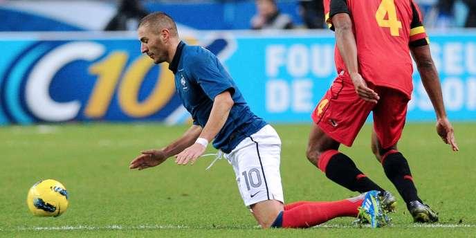 Karim Benzema n'a pas réussi à prendre le dessus sur la défense belge.