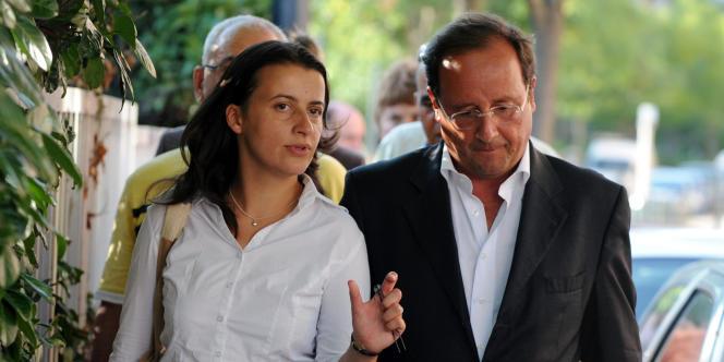 Cécile Duflot avec François Hollande, le 21 août 2008