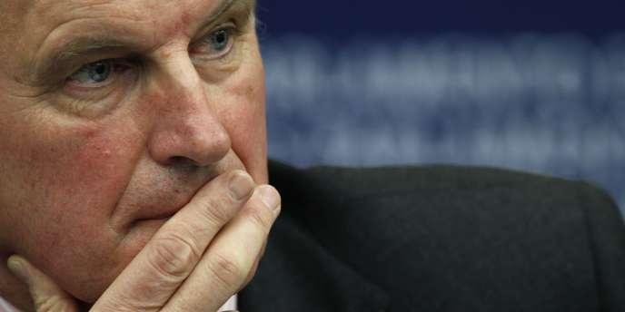 Michel Barnier, commissaire européen chargé du marché intérieur et des services financiers, à Bruxelles, en 2011.