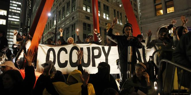 Les manifestants d'Occupy Wall Street, le 15 novembre 2011.