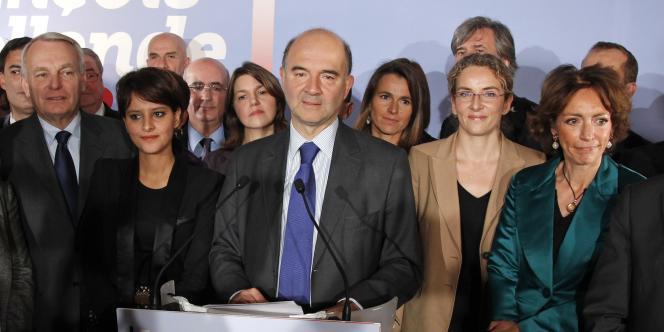L'équipe Hollande réunie en novembre 2011, après la primaire socialiste.