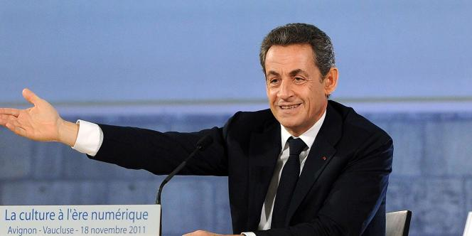 Nicolas Sarkozy, le 18 novembre, lors du Forum sur la culture à l'ère numérique d'Avignon.