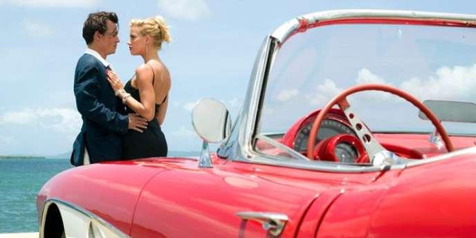 Johnny Depp et Amber Heard dans le film américain de Bruce Robinson,