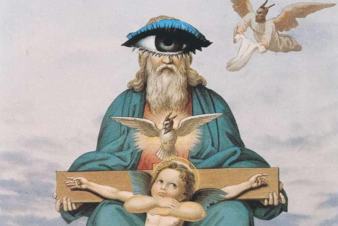 Un Dieu cyclope, des anges à cornes de démon, un jeu de main sur la croix... Le christianisme vu par Prévert.