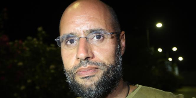 Saïf Al-Islam Kadhafi, à Tripoli, le 23 août 2011.