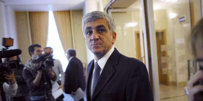 Le président du Nouveau Centre, Hervé Morin, à Paris, le 20 novembre 2011.