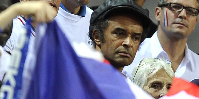 Yannick Noah lors du dernier euro de basket dont la finale a été perdue par l'équipe de France, où joue son fils, face à l'Espagne.