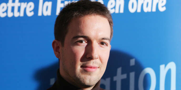 Guillaume Peltier, à l'époque où il était porte-parole du Mouvement pour la France lors de la campagne présidentielle de 2007 de Philippe de Villiers.