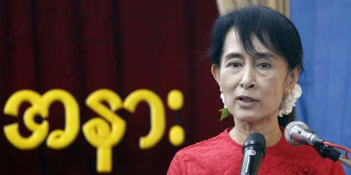 Aung San Suu Kyi, chef de file de l'opposition birmane.