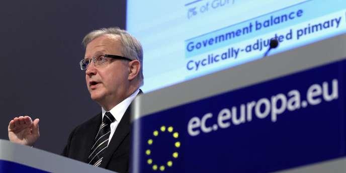 Olli Rehn, le commission européen chargé des affaires économiques et monétaires, insiste comme en 2012 pour ouvrir davantage les services à la concurrence, dans l'énergie et le transport ferroviaire, mais aussi dans certaines professions protégées, comme celle d'avocat.