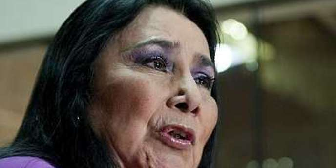 La ministre de la femme péruvienne, Aida Garcia Naranjo, lors d'une conférence de presse à Lima le 22 novembre.