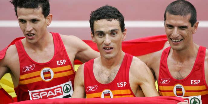 Le marathonien Pablo Villalobos, ici à droite, s'engage pour un sport propre.