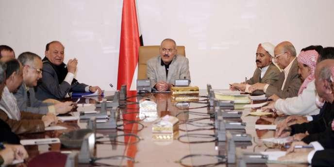 Le président Saleh à Sanaa, le 22 novembre 2011.