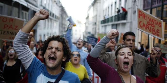 Manifestation contre l'austérité le 24 novembre 2011 à Lisbonne.