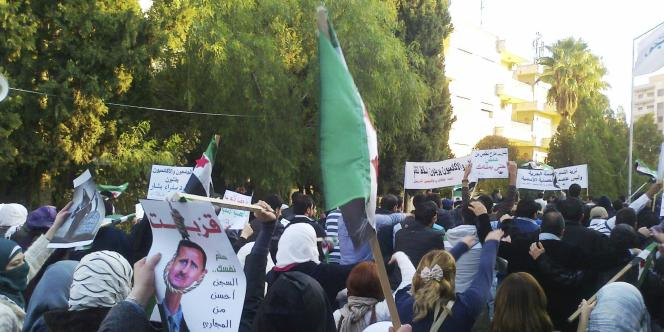 Manifestation hostile à Bachar Al-Assad, à Homs, le 23 novembre 2011.