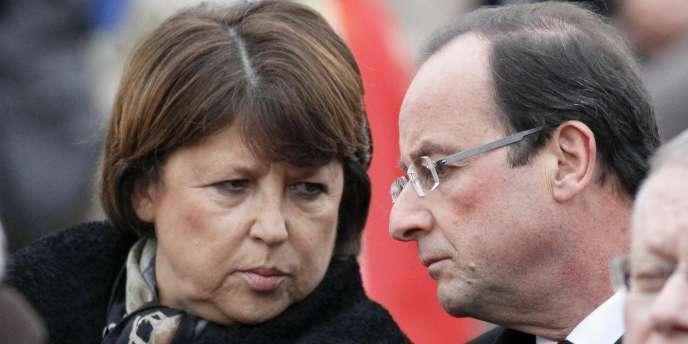 Martine Aubry et François Hollande, en novembre 2011.