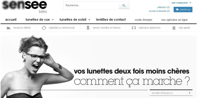 Page d'accueil du site sensee.com