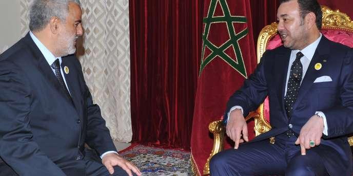 M. Benkirane rencontre le roi marocain Mohammed VI le 29 novembre 2011.