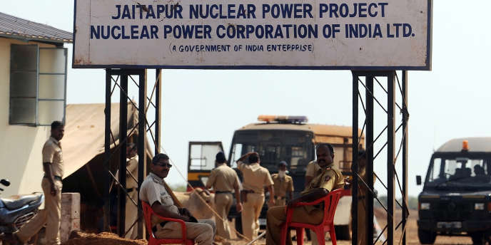 Le lieu du projet d'implantation de réacteurs EPR par Areva à Jaitapur (inde) en avril 2011.