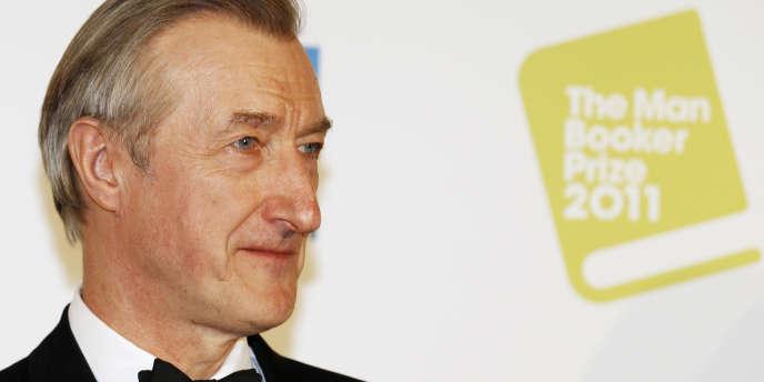 Julian Barnes à Londres, le 18 octobre 2011, recevant le Man Booker Prize pour