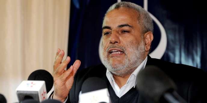Abdelilah Benkirane lors d'une conférence de presse à Rabat (Maroc), le 27 novembre 2011.