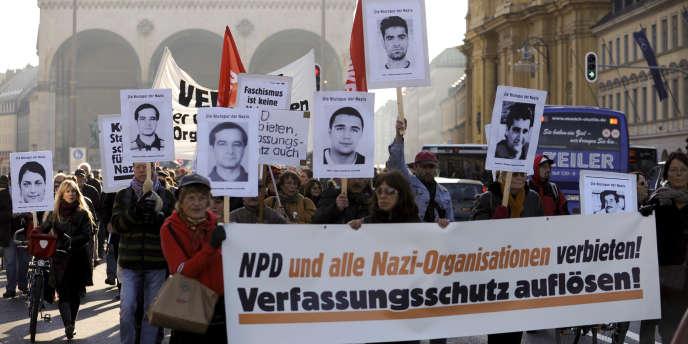 Une manifestation contre l'extrême droite, en 2011 à Munich.