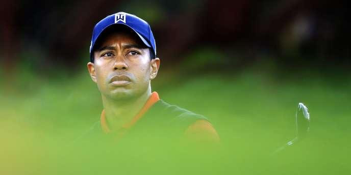 L'Américain Tiger Woods lors du 4e et dernier tour du Chevron World Challenge, à Thousand Oaks, en Californie.