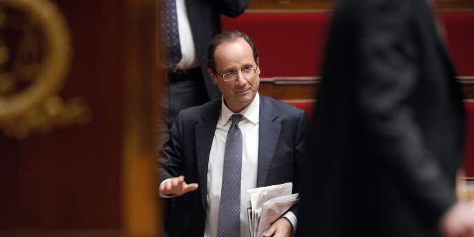 François Hollande à l'Assemblée nationale, le 6 décembre 2011.