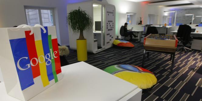 Les locaux de Google France à Paris, le 6 décembre 2011.
