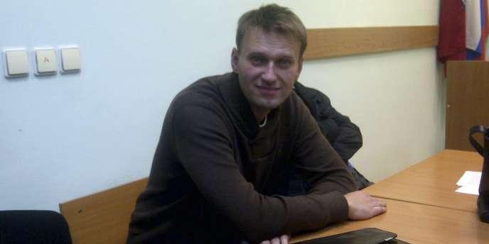 L'une des figures de l'opposition russe, Alexeï Navalny, à Moscou, le 6 décembre 2011.