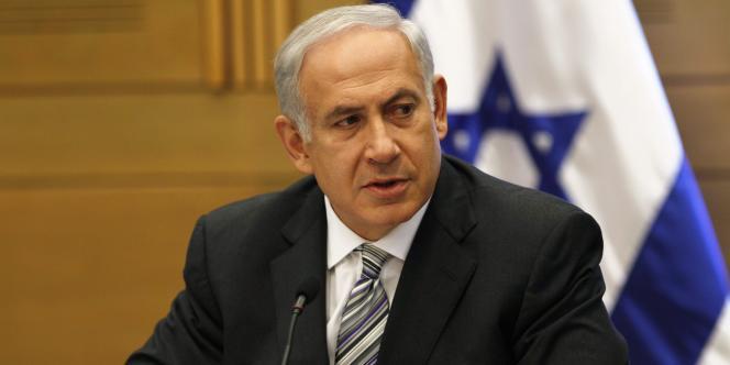 Le premier ministre israélien Benyamin Nétanyahou lors d'un discours à la Knesset à Jérusalem, le 7 novembre 2011.