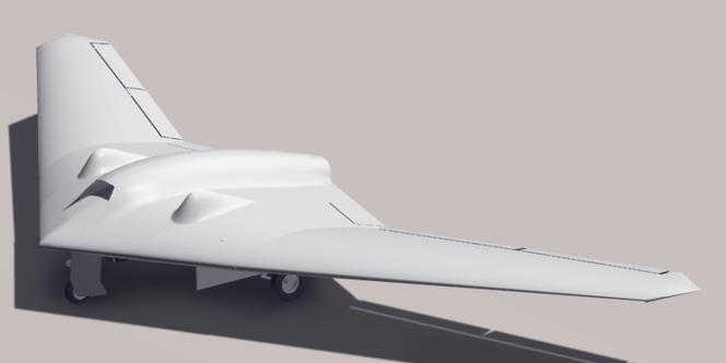 Vue numérique d'un drone RQ-170